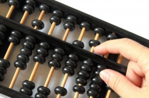 Counting on an abacus... a lost art, I feel.